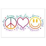 Peace Love Laugh Large Poster