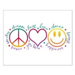 Peace Love Laugh Small Poster