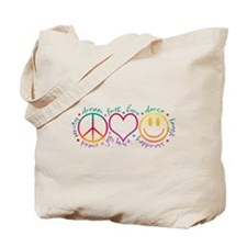 Peace Love Laugh Tote Bag