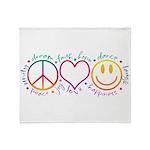 Peace Love Laugh Throw Blanket