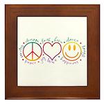 Peace Love Laugh Framed Tile
