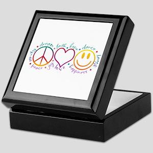 Peace Love Laugh Keepsake Box