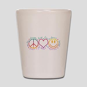 Peace Love Laugh Shot Glass