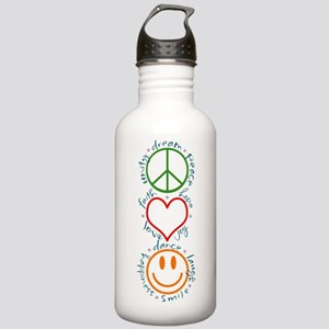 Peace Love Laugh Stainless Water Bottle 1.0L