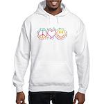 Peace Love Laugh Hooded Sweatshirt