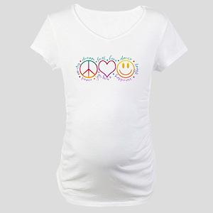 Peace Love Laugh Maternity T-Shirt