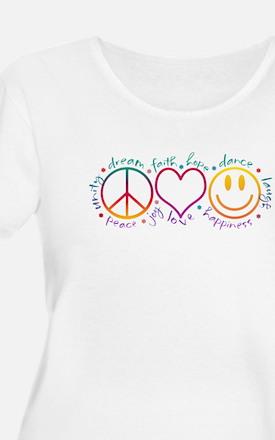 Peace Love Laugh T-Shirt