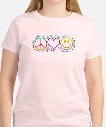 Peace Love Laugh Women's Light T-Shirt