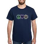 Peace Love Laugh Dark T-Shirt