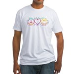 Peace Love Laugh Fitted T-Shirt