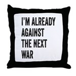 Im already against the next WAR Throw Pillow