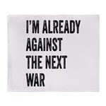 Im already against the next WAR Throw Blanket