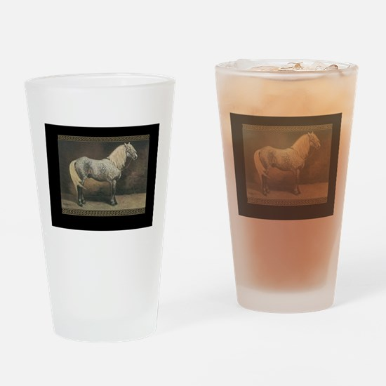 Percheron Horse Drinking Glass