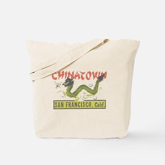 Vintage Chinatown Tote Bag