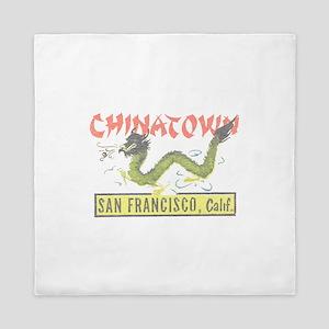 Vintage Chinatown Queen Duvet