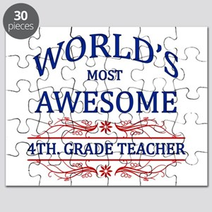 World's Most Awesome 4th. Grade Teacher Puzzle