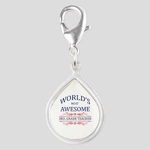World's Most Awesome 3rd. Grade Teacher Silver Tea