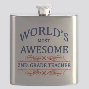 World's Most Awesome 2nd. Grade Teacher Flask