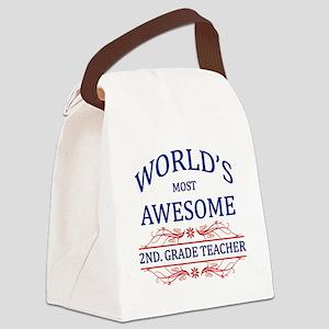 World's Most Awesome 2nd. Grade Teacher Canvas Lun