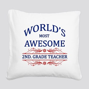 World's Most Awesome 2nd. Grade Teacher Square Can