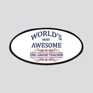 World's Most Awesome 2nd. Grade Teacher Patches