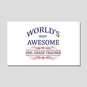 World's Most Awesome 2nd. Grade Teacher Car Magnet