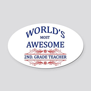 World's Most Awesome 2nd. Grade Teacher Oval Car M