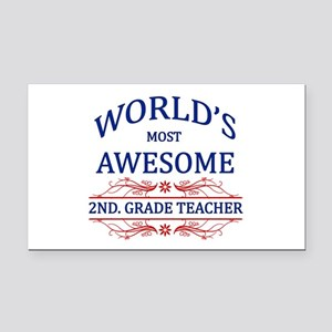 World's Most Awesome 2nd. Grade Teacher Rectangle