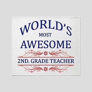 World's Most Awesome 2nd. Grade Teacher Throw Blan
