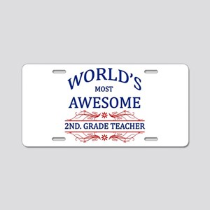 World's Most Awesome 2nd. Grade Teacher Aluminum L