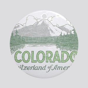 Vintage Colorado Mountains Ornament (Round)