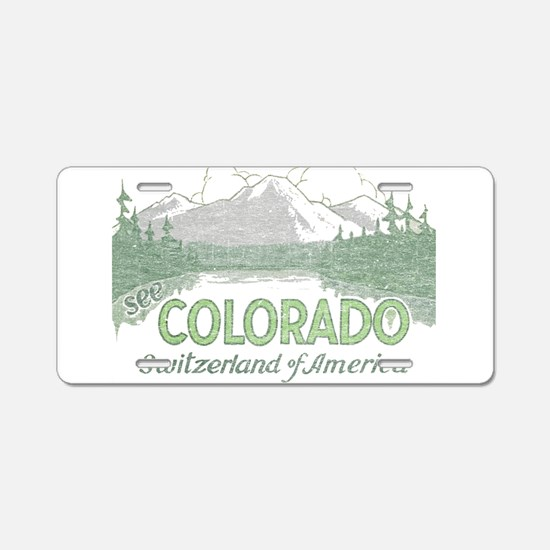 Vintage Colorado Mountains Aluminum License Plate