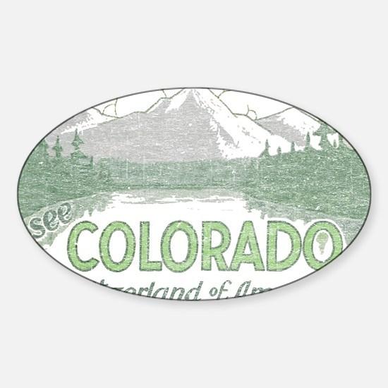 Vintage Colorado Mountains Decal