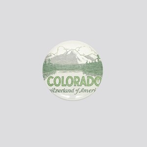 Vintage Colorado Mountains Mini Button