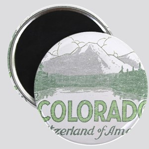 Vintage Colorado Mountains Magnet