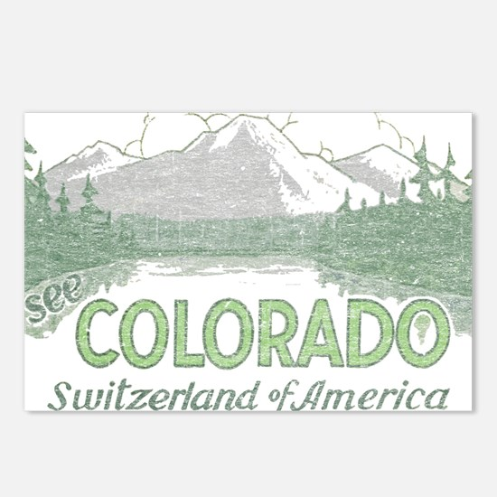 Vintage Colorado Mountains Postcards (Package of 8