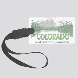 Vintage Colorado Mountains Luggage Tag