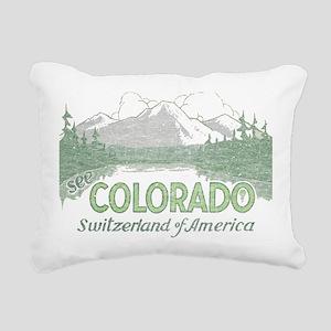 Vintage Colorado Mountains Rectangular Canvas Pill