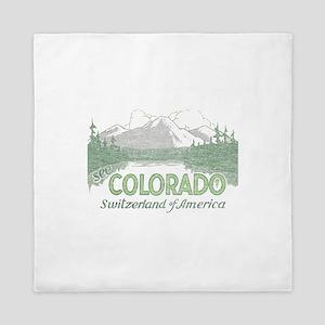 Vintage Colorado Mountains Queen Duvet