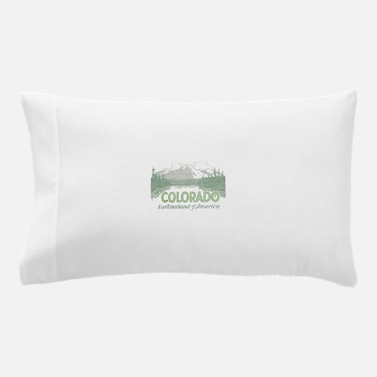 Vintage Colorado Mountains Pillow Case