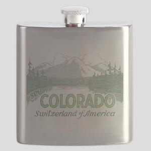 Vintage Colorado Mountains Flask