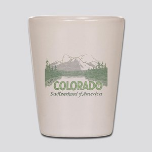 Vintage Colorado Mountains Shot Glass