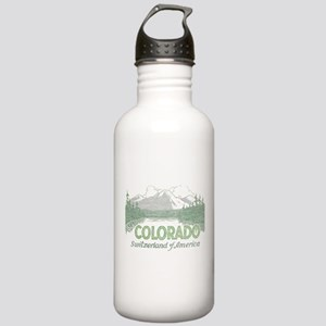 Vintage Colorado Mountains Water Bottle