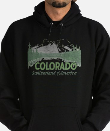 Vintage Colorado Mountains Hoodie
