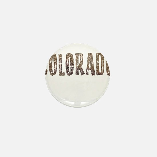 Colorado Stars and Coffee Mini Button