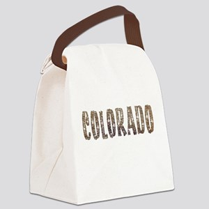 Colorado Stars and Coffee Canvas Lunch Bag
