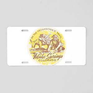Faded Idaho Springs Colorado Aluminum License Plat