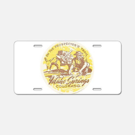 Faded Idaho Springs Colorado Aluminum License Plat