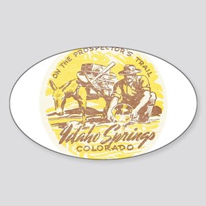 Faded Idaho Springs Colorado Sticker