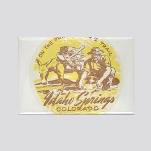Faded Idaho Springs Colorado Rectangle Magnet